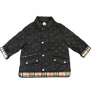 Unisex Infant BURBERRY Black Quilted Coat 18 Month